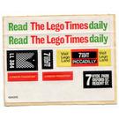 LEGO White Sticker Sheet for Set 384