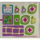 LEGO White Sticker Sheet for Set 41038 (17792)