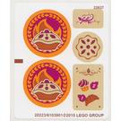 LEGO White Sticker Sheet for Set 41074 (20223)