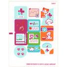 LEGO White Sticker Sheet for Set 41085 (19881)