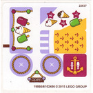 LEGO White Sticker Sheet for Set 41094 (19866 / 19868)