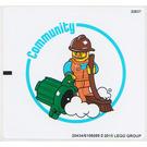 LEGO White Sticker Sheet for Set 45103 (20434)