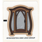 LEGO White Sticker Sheet for Set 4752 (49184)