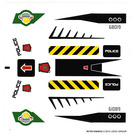 LEGO White Sticker Sheet for Set 5983 (90783)