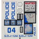 LEGO White Sticker Sheet for Set 60044 (14799)