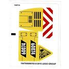 LEGO White Sticker Sheet for Set 60074 (19477 / 19479)