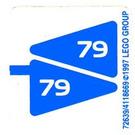 LEGO White Sticker Sheet for Set 6579 (72639)