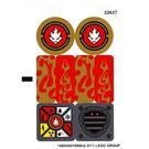LEGO White Sticker Sheet for Set 70500 (12605)