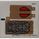 LEGO White Sticker Sheet for Set 70745 (19211 / 19552)