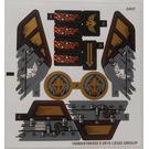 LEGO White Sticker Sheet for Set 70747 (19560 / 19562)