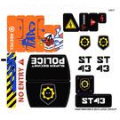 LEGO White Sticker Sheet for Set 70808 (16447)