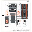 LEGO White Sticker Sheet for Set 75049 (17590)