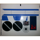 LEGO White Sticker Sheet for Set 75087 (20240)