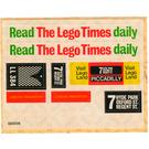 LEGO White Sticker Sheet for Set 760-2