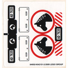 LEGO White Sticker Sheet for Set 7635 (84955)