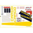 LEGO White Sticker Sheet for Set 7843 (53301)