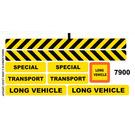 LEGO White Sticker Sheet for Set 7900 (56605)