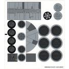 LEGO White Sticker Sheet for Set 7965 (95690)