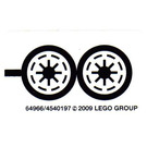 LEGO White Sticker Sheet for Set 8014 (64966)