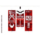 LEGO White Sticker Sheet for Set 8111 (62013)