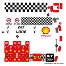 LEGO White Sticker Sheet for Set 8123 (64974)
