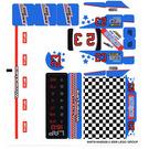 LEGO White Sticker Sheet for Set 8125 (64978)