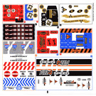 LEGO White Sticker Sheet for Set 8147 (57862)