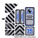 LEGO White Sticker Sheet for Set 8190 (89586)