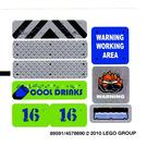 LEGO White Sticker Sheet for Set 8191 (89591)