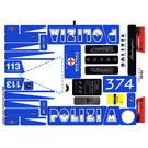 LEGO White Sticker Sheet for Set 8214 (89821)