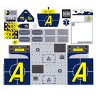 LEGO White Sticker Sheet for Set 8635 (63720)
