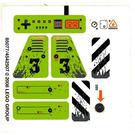 LEGO White Sticker Sheet for Set 8958 (85077)