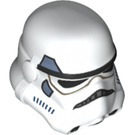 LEGO White Storm Trooper Helmet with Sand Blue Decoration (18264)