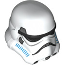 LEGO White Stormtrooper with Printed Legs and Dark Azure Helmet Vents (75053) Minifig Accessory Helmet Imperial (18289)