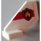 LEGO White Tail 2 x 3 x 2 Fin with Sticker from Set 60004