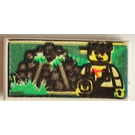 LEGO White Tile 1 x 2 with Jungle Ruins and Minifig with Groove