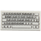 LEGO White Tile 1 x 2 With PC Keyboard Pattern with Groove (50311 / 81890)