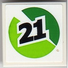 LEGO Tile 2 x 2 with Sticker from Set 8899 (3068)