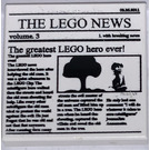 LEGO White Tile 2 x 2 with The Lego News with Groove (73021)