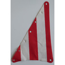 LEGO White Triangle Sail in Red and White Stripes