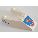LEGO White Wedge 6 x 4 Cutout with Sticker from Set 6517