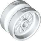 LEGO White Wheel 18 x 12mm with Etched Rim (18976)