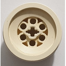 LEGO White Wheel 43.2 x 28 Balloon Small with '+' Shaped Axle Hole (6580)