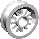 LEGO White Wheel Centre Spoked Small (30155)