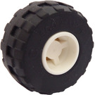 LEGO White Wheel Rim Wide Ø11 x 12 with Notched Hole with Balloon Tire Ø24 x 12