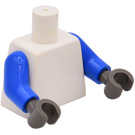 LEGO White Williams F1 Team Race without Torso Sticker Minifig Torso