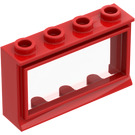 LEGO Window 1 x 4 x 2 Classic with Fixed Glass with Short Sill