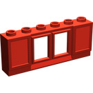 LEGO Window 1 x 6 x 2 with Shutters without Glass for Slotted Bricks (646)