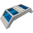 LEGO Window 10 x 4 x 2 with Sloped Ends and Transparent Dark Blue Glass