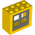 LEGO Window 2 x 4 x 3 Assembly with Rounded Holes (73148)